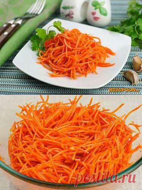 """Ingredients to the recipe \""""Carrots in Korean\"""":\u000d\u000a500 g\u000d\u000aCarrots\u0009\u0009\u000d\u000a2 clove\u000d\u000aGarlic\u000d\u000a1 pieces.\u000d\u000aOnion\u0009\u0009\u000d\u000a3 tablespoons.\u000d\u000aThe sunflower oil refined\u000d\u000a1.5 tablespoon.\u000d\u000aVinegar\u0009\u0009\u000d\u000a1 h l.\u000d\u000aGround black pepper\u000d\u000a0.5 h l.\u000d\u000aPepper red ground\u0009\u0009\u000d\u000a2 h l.\u000d\u000aThe coriander is ground\u000d\u000a1 h l.\u000d\u000aSugar\u0009\u0009\u000d\u000a2 pinch\u000d\u000aSalt\u000d\u000aKorean carrot\u000d\u000a\u000d\u000aCarrots in Korean became absolutely habitual dish salad which we often see on counters or we prepare. Salad represents thinly cut or rubbed on"""