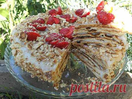 """очень вкусный и нежный торт """"Сковородошный"""" (жареный!) с ванильным ароматом!."""