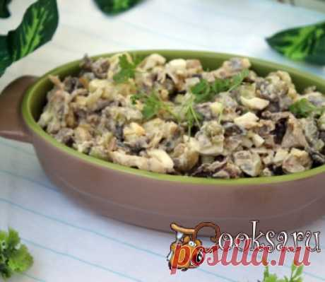 Салат с говядиной и жареными вешенками фото рецепт приготовления