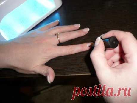 Коррекция гелевых ногтей.