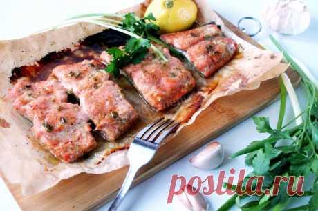 Филе лосося в духовке рецепт с фото пошагово - 1000.menu