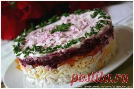 """Слоеный салат """"МОЙ ГЕНЕРАЛ"""""""