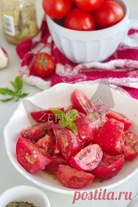 Вкусные быстрые маринованные помидоры — Кулинарные рецепты любящей жены