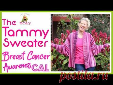 The Tammy Sweater - Easy Crochet Cardigan for Breast Cancer Awareness CAL