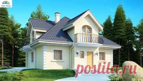 Проект z27: с мансардой кирпич/блоки, площадь - 155.8 м2 | Готовые проекты домов - Proekt-shop