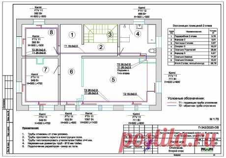 Проект отопления частного дома, пример 1422