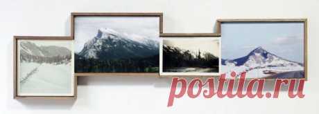 Мужчина покупает старые фотографии на блошиных рынках и составляет из них пейзажи