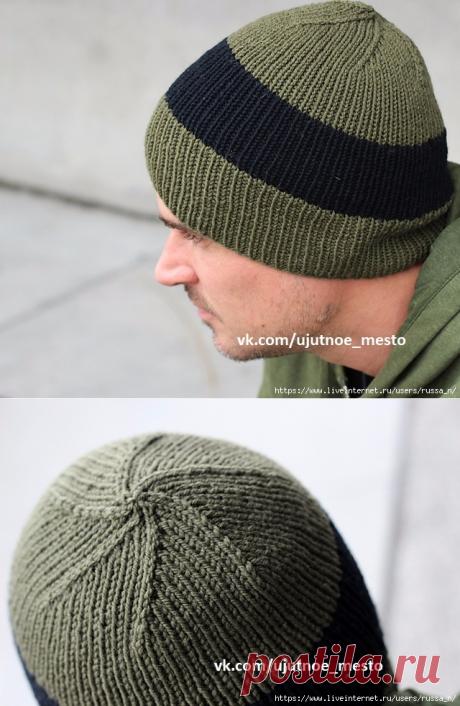 Мужская шапка DH's by Jenny F. СПИЦЫ
