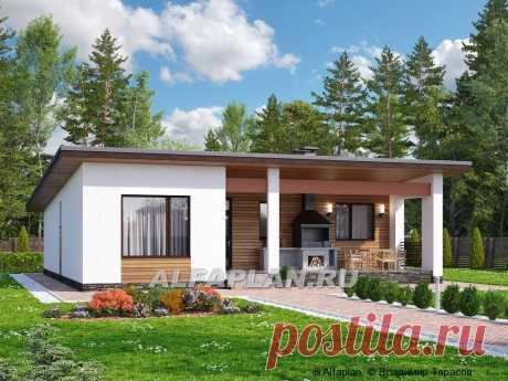 """🏠 """"Эпсилон"""" - уютный каркасный дом с просторной террасой"""