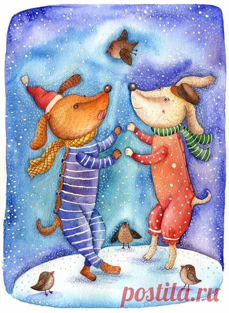 Сообщество иллюстраторов | Иллюстрация Снежный танец.