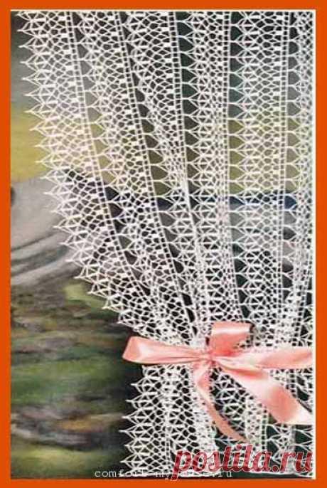 Модные шторы на кухню крючком по простым схемам