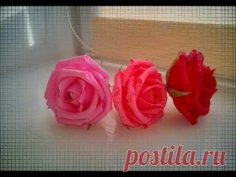 Очень простой способ сделать ОБЪЕМНУЮ РОЗУ из гофрированной бумаги #AlesyaGor #цветыизбумаги #розаизбумаги *Доброго времени суток! Вот размеры под цветочек! Пробуйте делать! Я уверена у Вас все получится!!! Бумагу я использу...