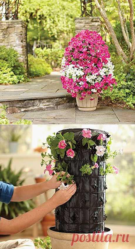 Как сделать цветочную колонну.