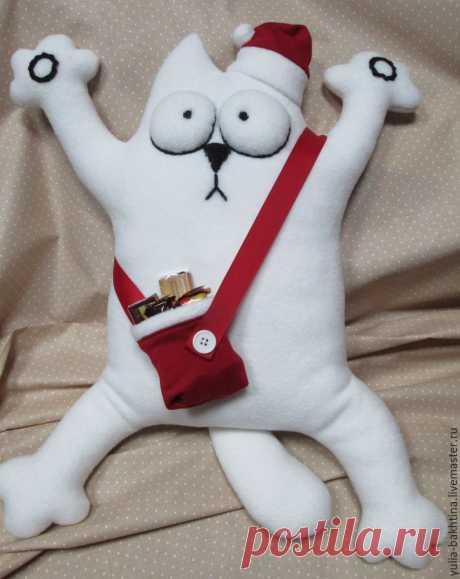 Мастер-класс смотреть онлайн: Шьем новогоднего кота Саймона | Журнал Ярмарки Мастеров