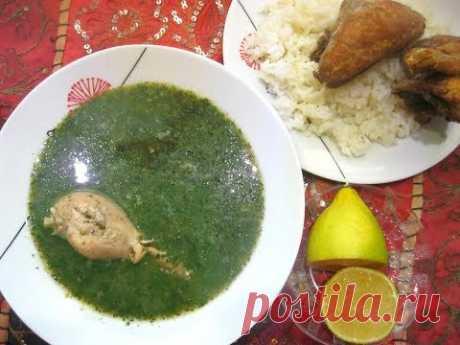 Млухие молохия с курицей  Арабская кухня