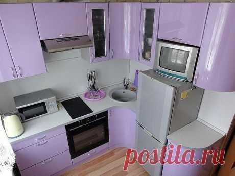 Маленькая и уютная кухня 5 кв.м