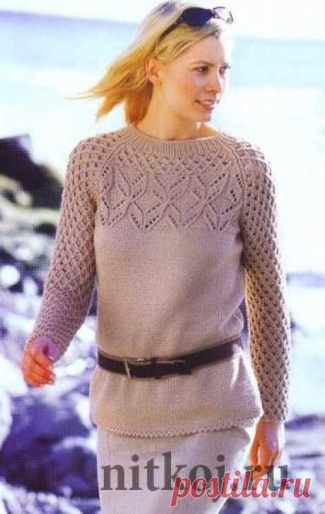 Pullover raglan spokes