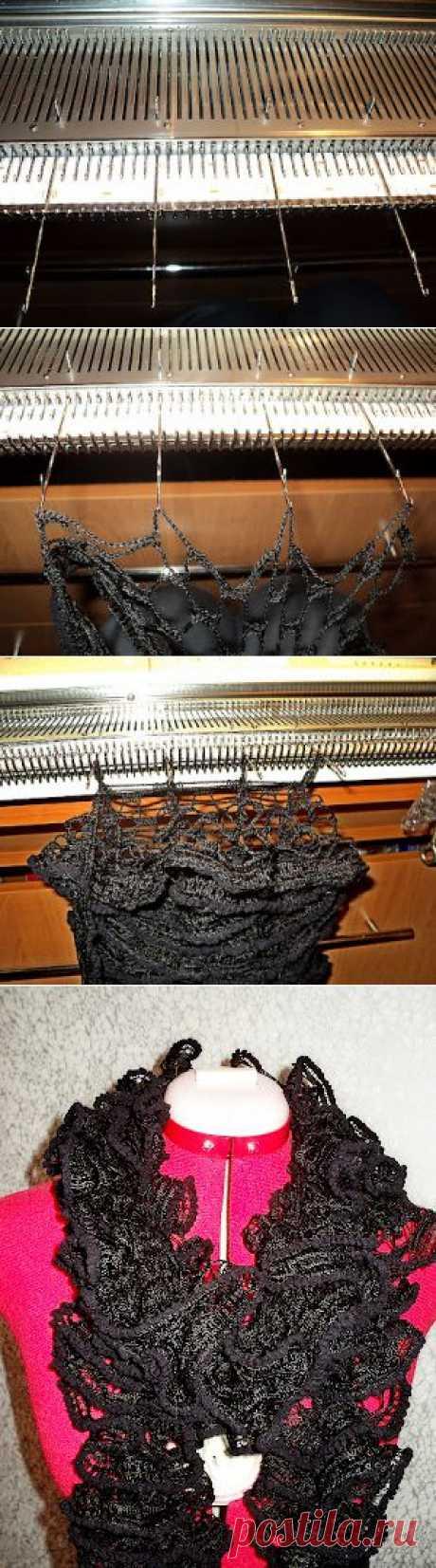 Вязание шарфиков из ленточной пряжи на вязальной машине.Мастер-класс - Ярмарка Мастеров - ручная работа, handmade