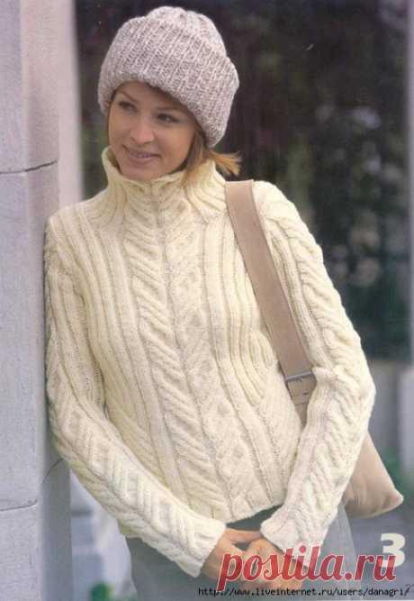 White jumper - Knitting - the Country of Mothers
