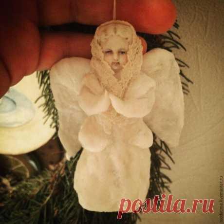 Создаем ватную игрушку «Рождественский ангел».