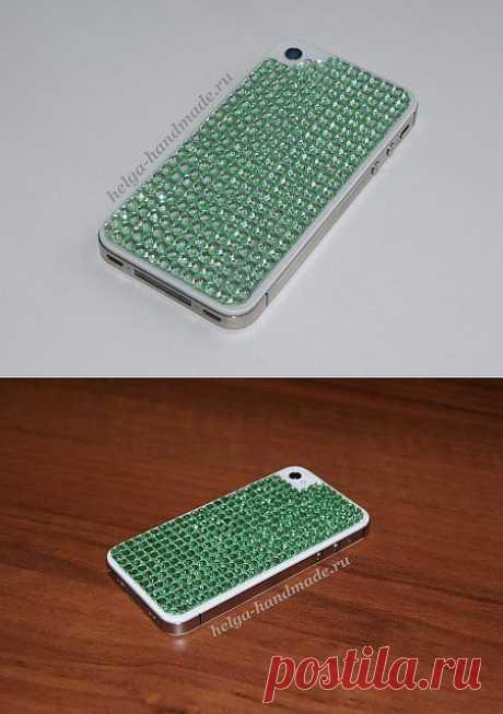 Украшаем телефон стразами своими руками, мастер-класс | helga-handmade.ru