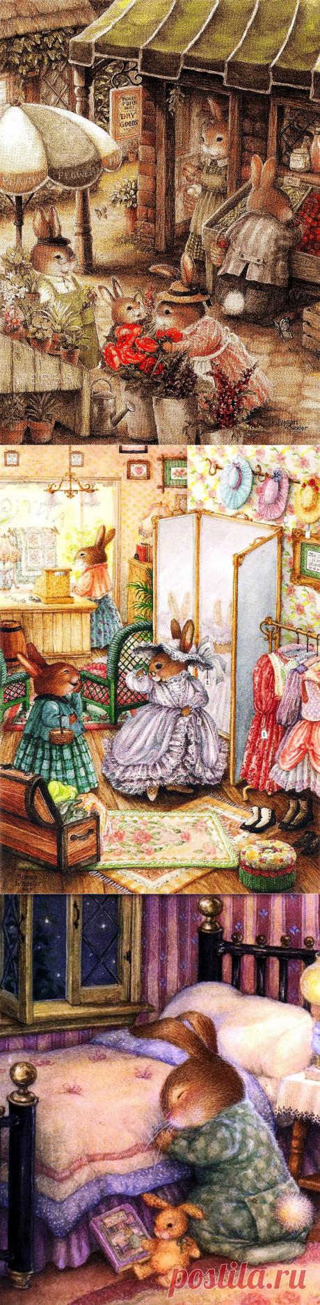 Очаровательный сказочный мир. Художница Сьюзен Вилер (Susan Wheeler). Иллюстрации и открытки. Часть 1.