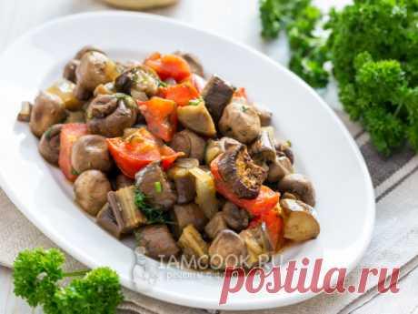 Баклажаны с грибами в духовке — рецепт с фото
