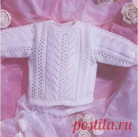 Нежный пуловер для малыша из категории Интересные идеи – Вязаные идеи, идеи для вязания