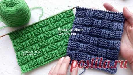 Шикарный вафельный узор для шарфа, снуда, свитера!   Вязаные идеи. Интересные узоры.   Яндекс Дзен