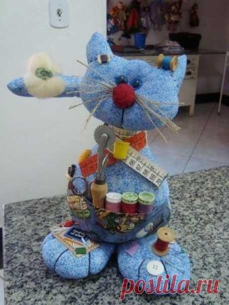 Кот - помощник рукодельницы — Сделай сам, идеи для творчества - DIY Ideas