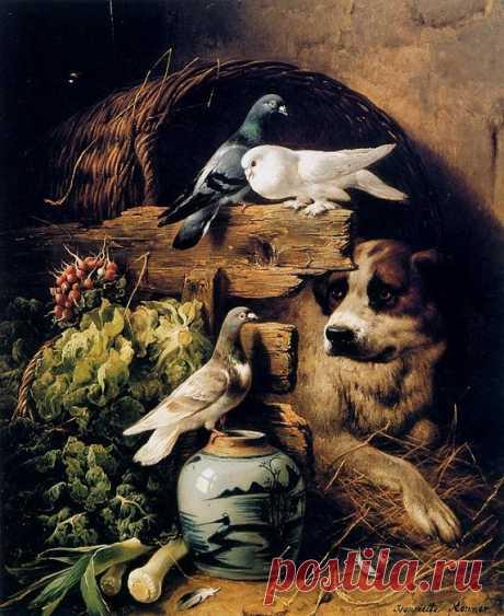 Генриетта Роннер-Книп - художница, которая 30 лет рисовала только котиков