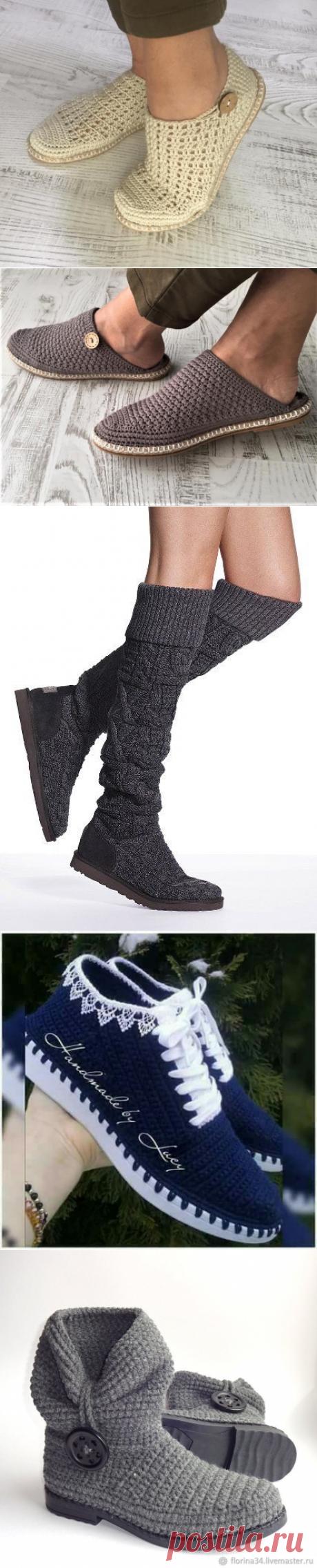 Обувь, связанная крючком: 12 идей   Рукоделие