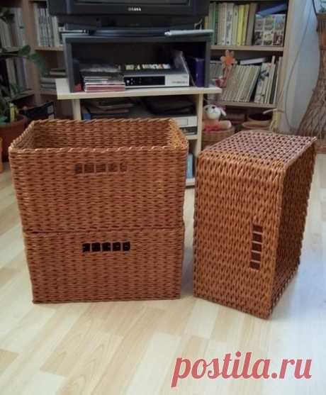Master class: charming basket the hands. Stock up with newspapers!
