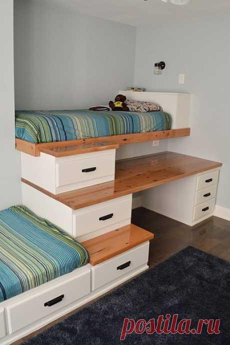 Компактная идея для детской комнаты