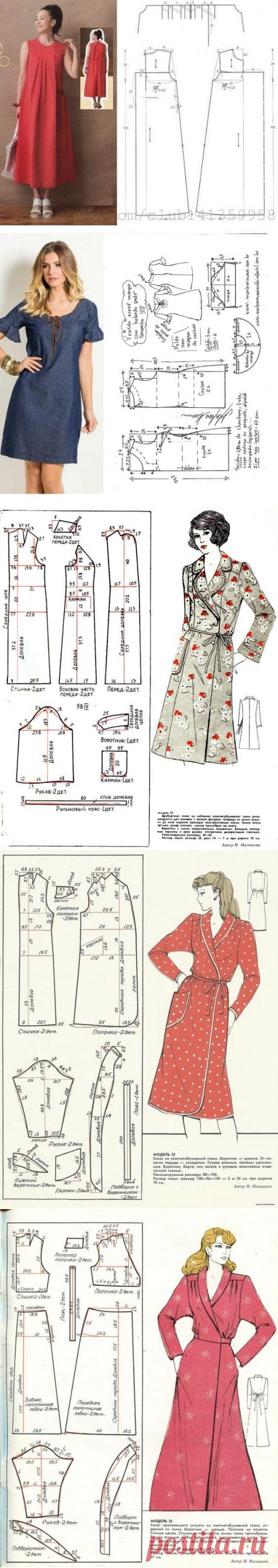 10 выкроек халатов и домашних платьев | Рукоделие