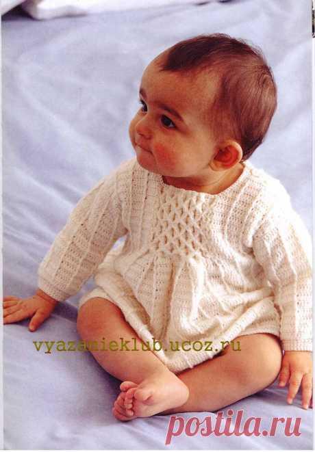 Платье с буфами крючком до года - Детское вязание крючком - Каталог файлов - Вязание для детей