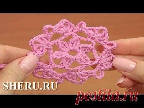 Crochet Circles Урок 33 часть 1 из 2 Вязание мотива