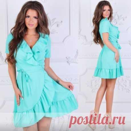 Мини платье халатик