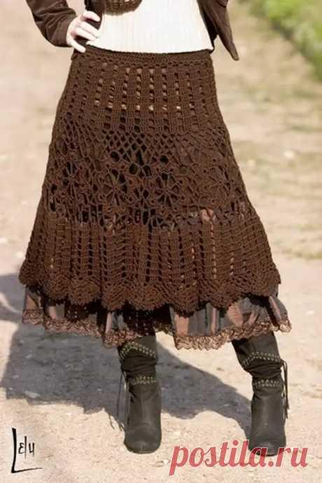 Длинные юбки вязанные крючком - Секреты стиля - медиаплатформа МирТесен