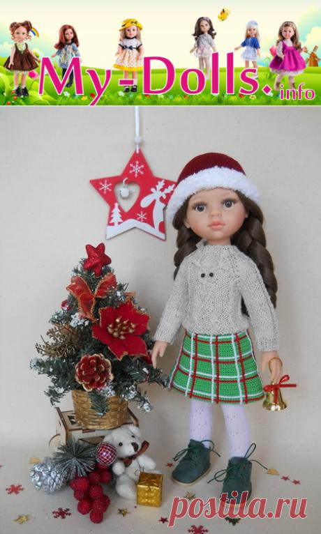 Вяжем юбку для куклы Паола Рейна крючком. Мастер-класс
