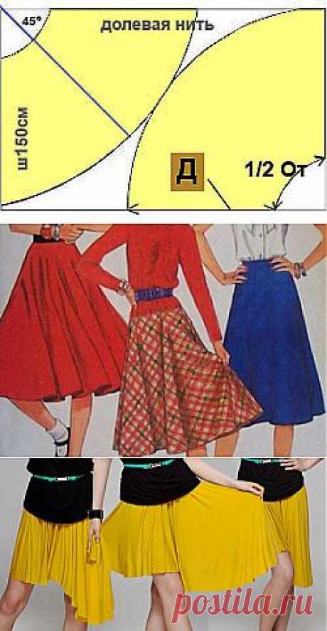Выкройка юбки полусолнце | Как сшить юбку полусолнце своими руками