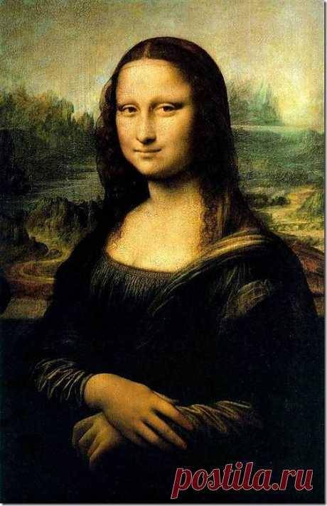 """Картина Мона Лиза (Джоконда). 1503-04. К 1514 — 1515 гг. относится создание шедевра великого мастера — картины Джоконда. До последнего времени думали, что этот портрет был написан гораздо раньше, во Флоренции, около 1503 г. Верили рассказу Вазари, который писал: """"Взялся Леонардо выполнить для Франческо дель Джоконде портрет монны Лизы, жены его, и, потрудившись над ним четыре года, оставил его недовершенным."""