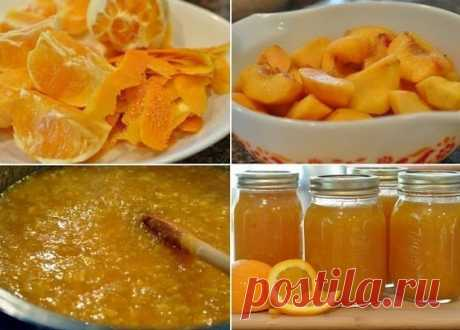 Варенье из персиков с апельсинами.   Ингредиенты:  9 спелых персиков.  3 апельсина без косточек.  Показать полностью…