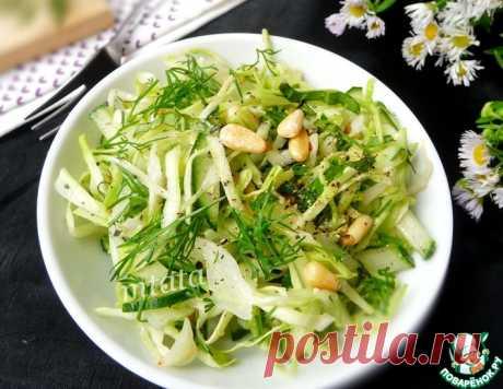 Салат из молодой капусты и огурца – кулинарный рецепт