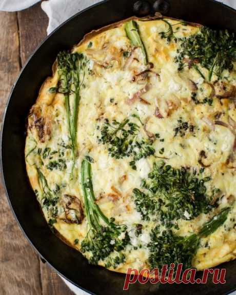 Фриттата с брокколи — Sloosh – кулинарные рецепты