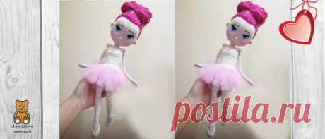 Кукла балерина крючком: сама воздушность | Амигуруми крючком - Блог