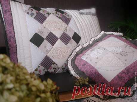 Fundas de almohada patchwork: ideas - bricolaje, ideas para la creatividad - Ideas para bricolaje
