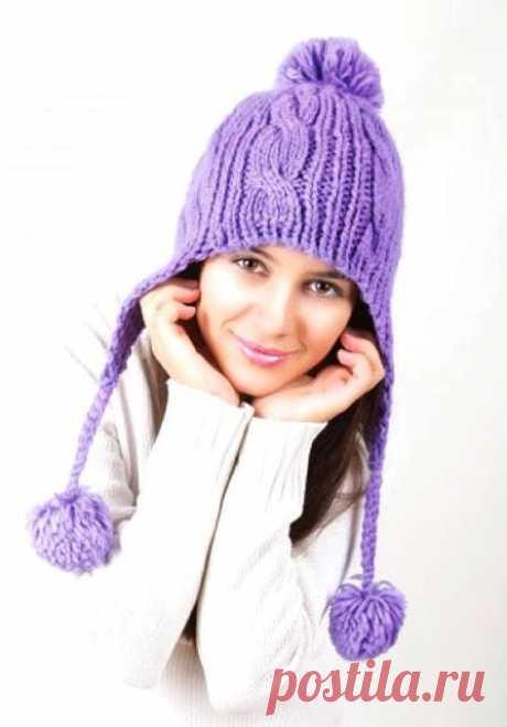 Шапки вязанные спицами (женские, со схемами и фото) Вязанные спицами женские шапки — это важная часть гардероба каждой леди. Каждая женщина или девушка может связать модную шапку своими руками.