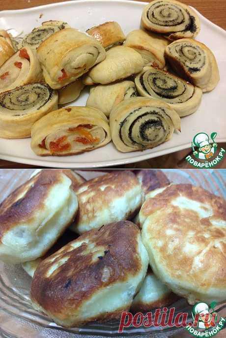 Супер быстрое и вкусное тесто и беляши из него + бонус луково-грибные лепешки....