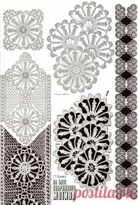 «Irish crochet &: Красивые схемы крючком Вязание Pinterest Há» — карточка пользователя Надежда Г. в Яндекс.Коллекциях